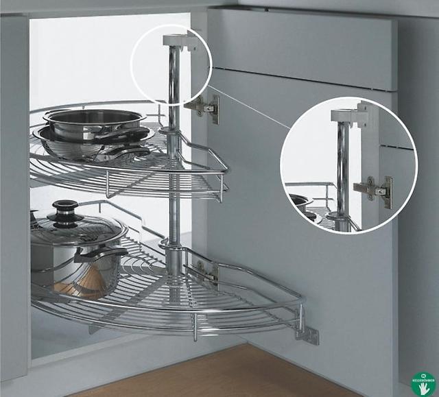 Поворотная кухонная полка карусель для кухни